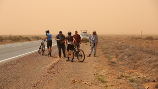 In the dust storm near Cockburn, SA.JPG