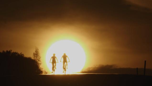 Riding into the sunset at Cobar, NSW.jpg