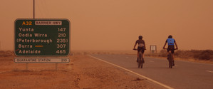 Dust storm heading to Adelaide.