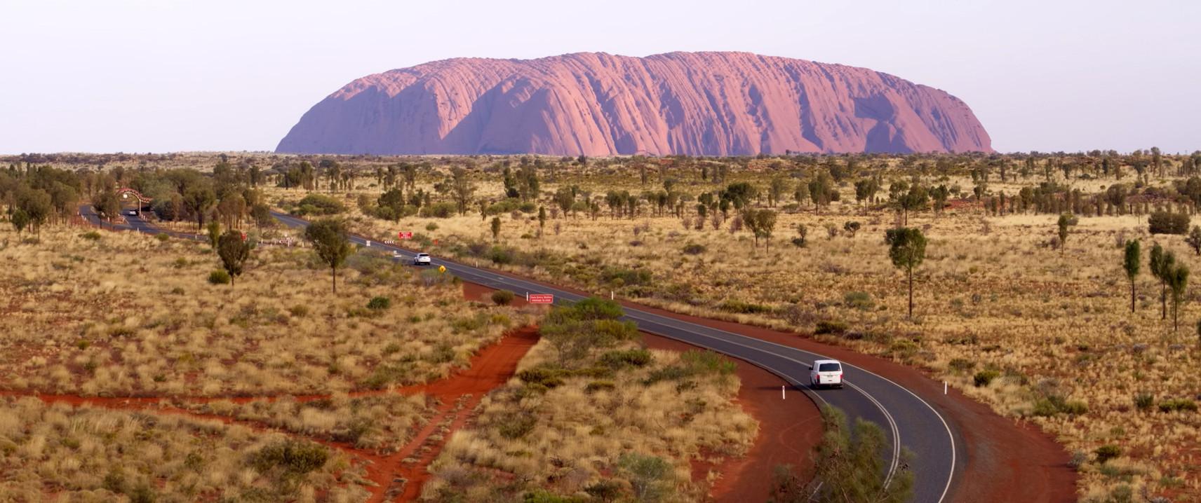 Driving into Uluru