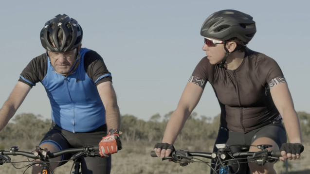 Mike and Sam on Old Warren Road