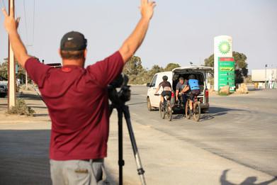 Riding through Yunta, SA.JPG