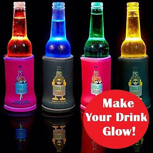 Cooler-Torch-Lighted-Bottle-Koozie-Make-your-drink-Glow-Choose-your-Color  Cool