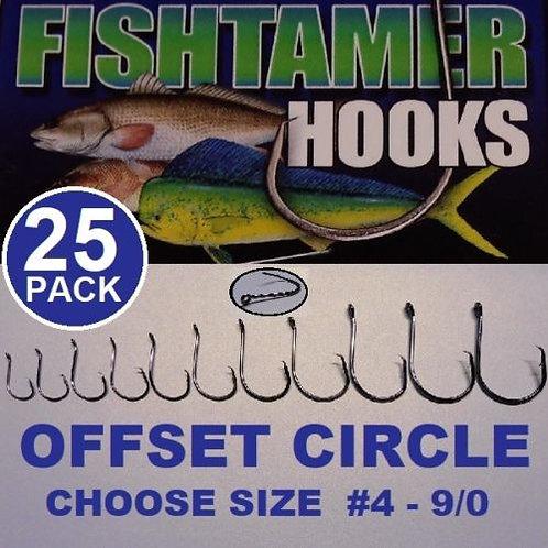 25pk Offset Circle Hooks FISH TAMER Pro Pack - Super Sharp
