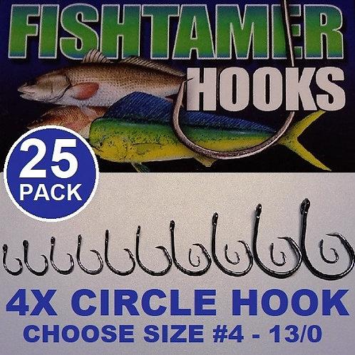 25pk 4X Circle Hooks FISH TAMER Pro Pack - Super Sharp