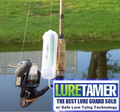 LURE TAMER w/ Lure Tying Technology No exposed hooks while tying or carrying