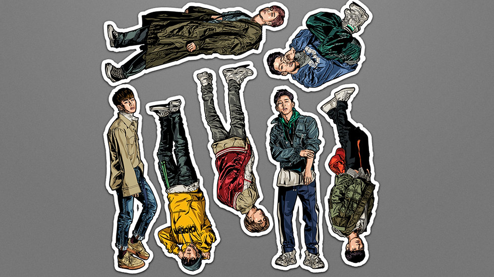 New Kids Sticker Set