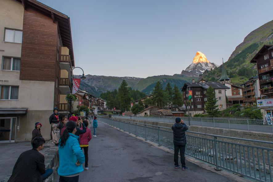 황금호른 마테호른 일출 체르마트 스위스여행 유럽여행
