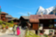 스위스 뮈렌 뮤렌 마을 전경