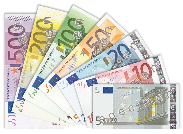 유로 지폐 환전 EUR