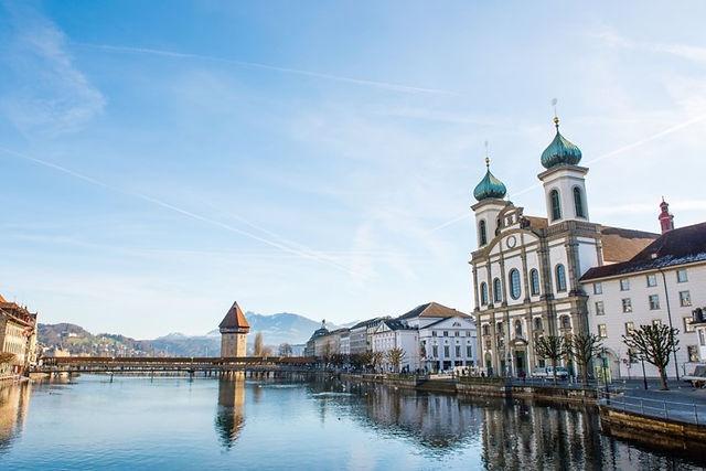스위스여행,루체른여행,예수교회,루체른시내