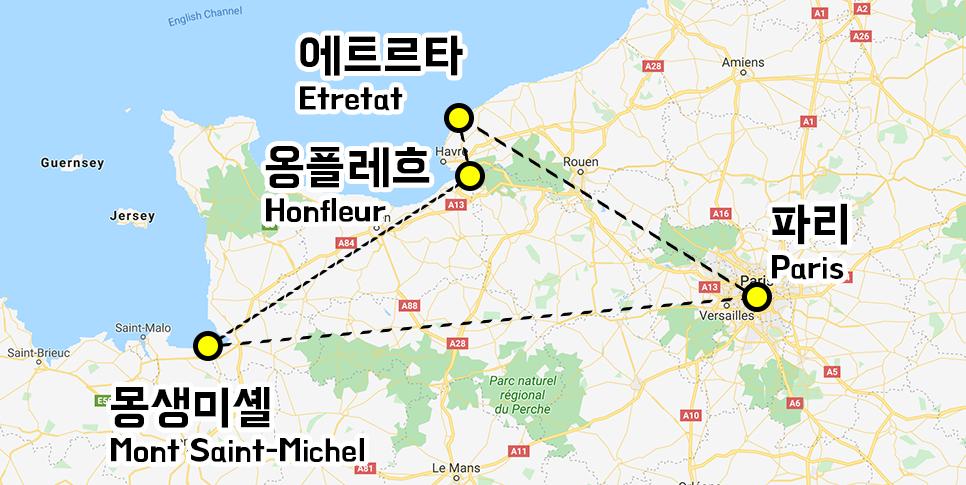 몽생미셸 지도