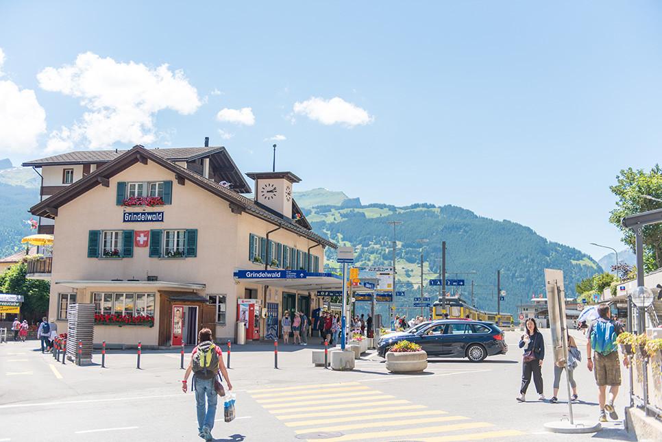 스위스 그린델발트 기차역