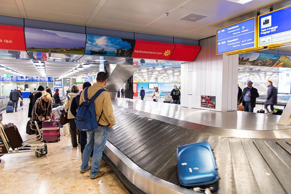 스위스 제네바 공항 짐 찾는곳