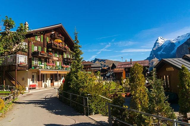 스위스 뮈렌 마을 전경