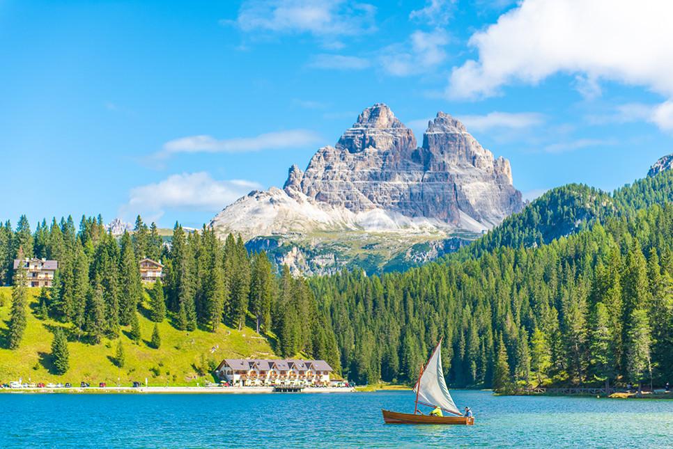 미주리나호수 돌로미티여행 이탈리아여행 알프스