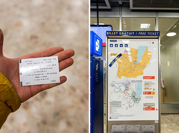스위스제네바공항 무료교통권