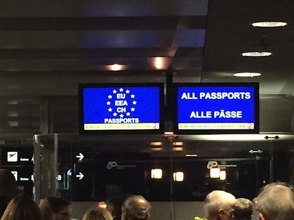 스위스 취리히공항 입국심사대