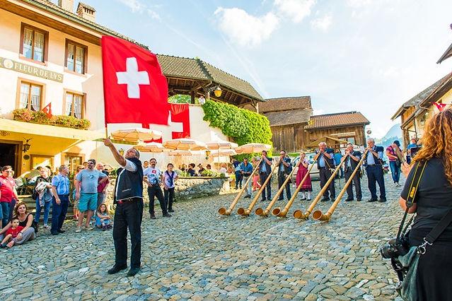 스위스 깃발 그뤼에르