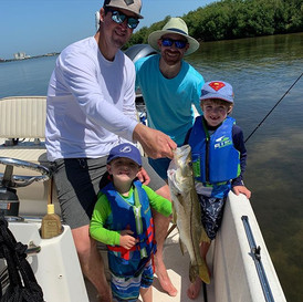 Lots of hungry snook. Let's fish! 813-95