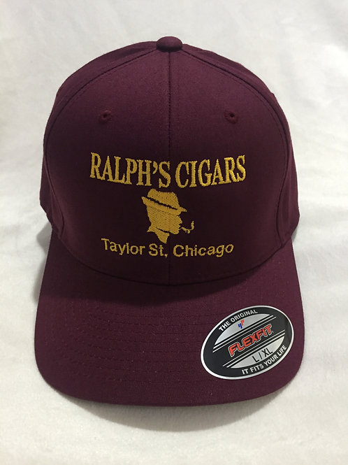 Burgundy Hat with Yellow Lettering