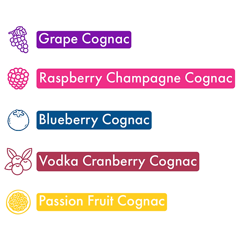 5 Count Sampler Pack: Fruity, 6x60 Size