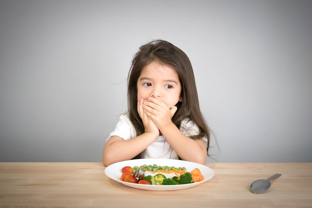 picky eater, girl, healthy eating, sensory