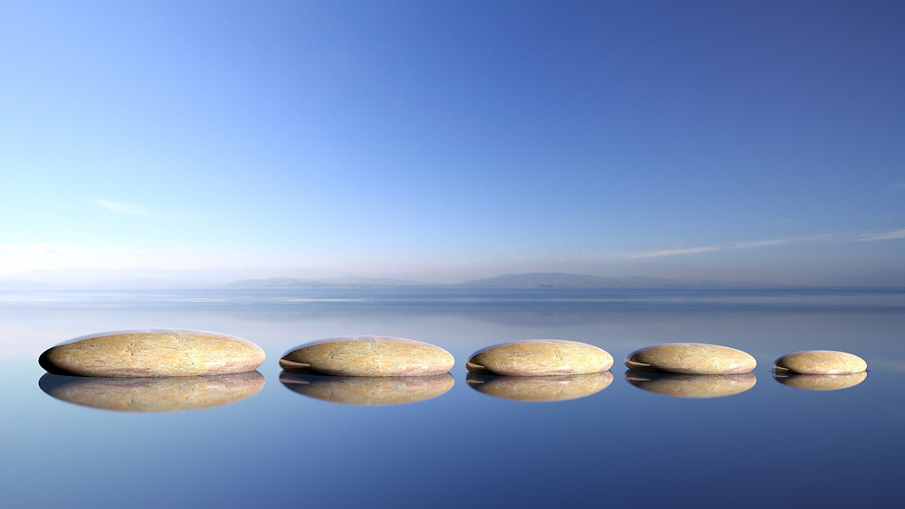 mindfulness, peace, stones, water, wellness