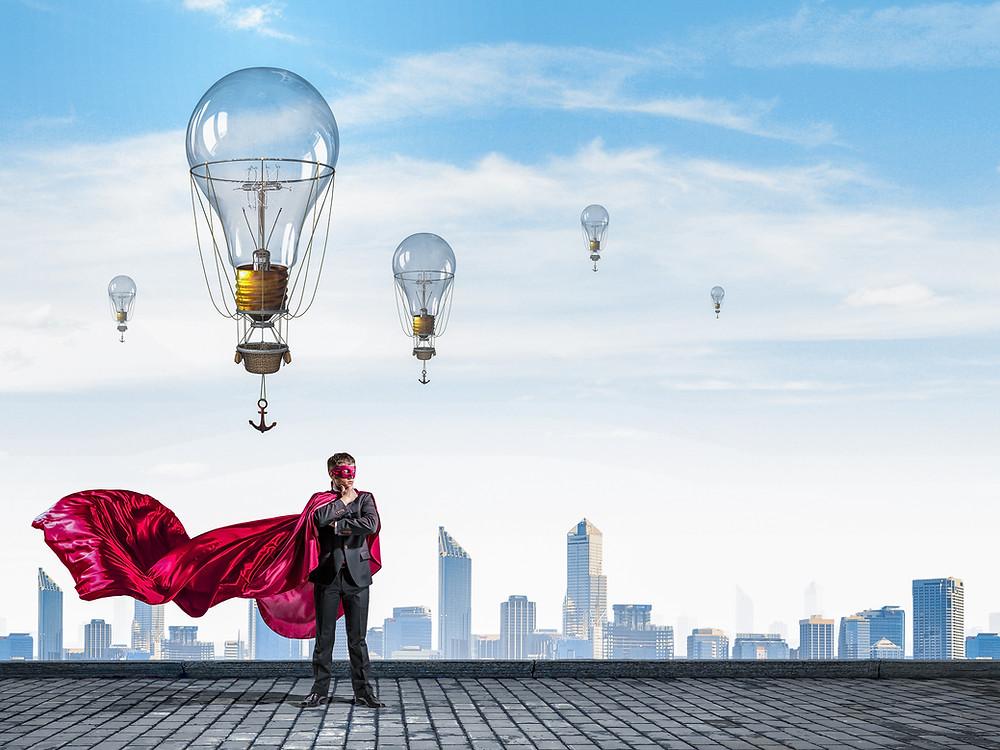 idea, super power, cape