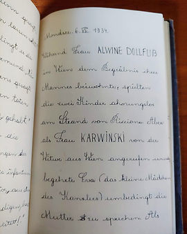 A diary page written in 1933 in German