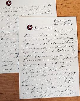 Handwritten letter from 1919