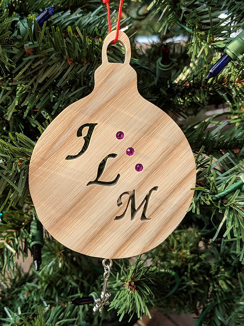 Diagonal Initials Ornament
