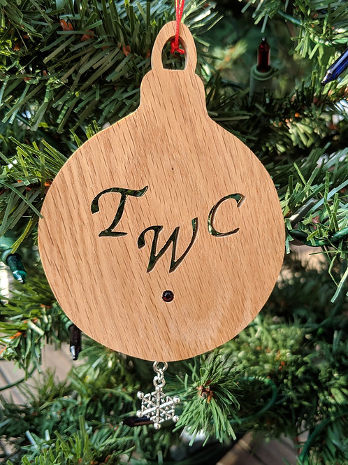 Curved Initials Ornament