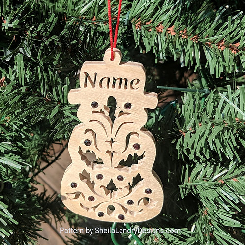 Snowman Custom Ornament