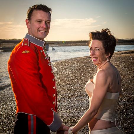 Gareth and Joanne Beach Wedding Anniversary