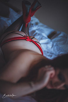 Dark and Moody Boudoir Photo