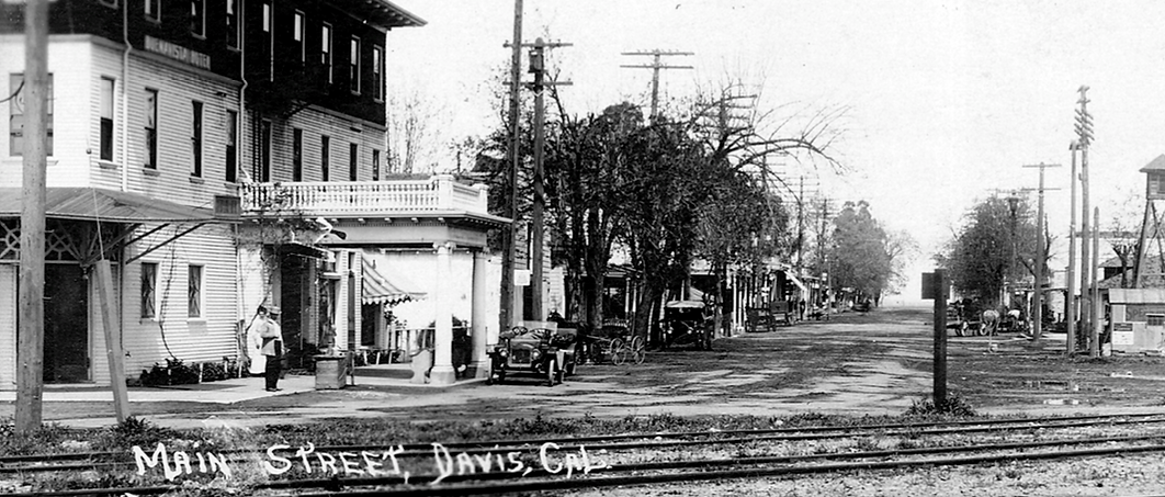 Main Street Davis, CA in the early 1900's