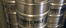 Three Mile Brewing Kegs