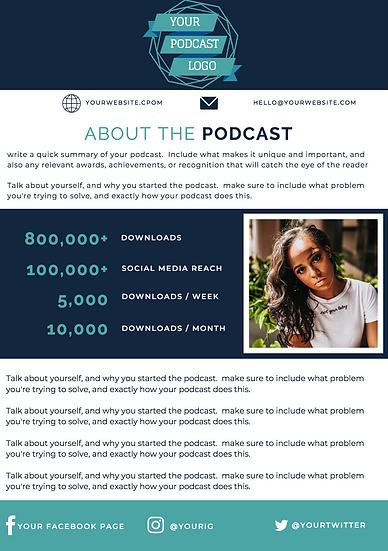 Podcast Media Kit Template