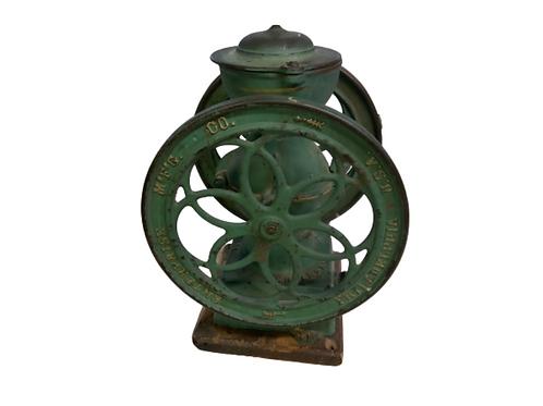 Paint decorated cast iron Enterprise coffee grinder