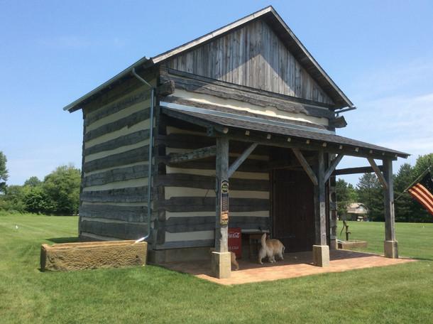 Completed single pen log barn circa 1830