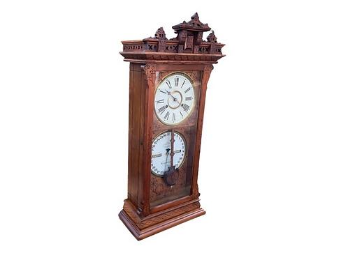 No. 6 1/2 Shelf Belgrade Ash Ithaca calendar clock
