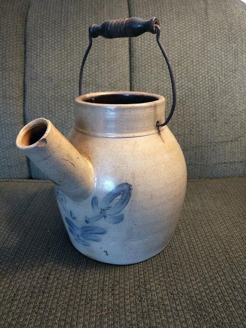 blue decorated batter jug