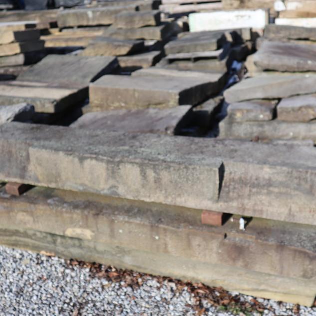 Reclaimed foundation stone