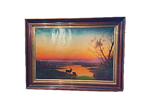 HUDSON RIVER OIL PAINTING ON CANVAS