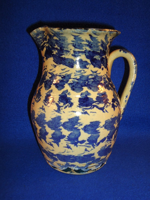 Old Southern Blue and Yellow Spongeware Pitcher