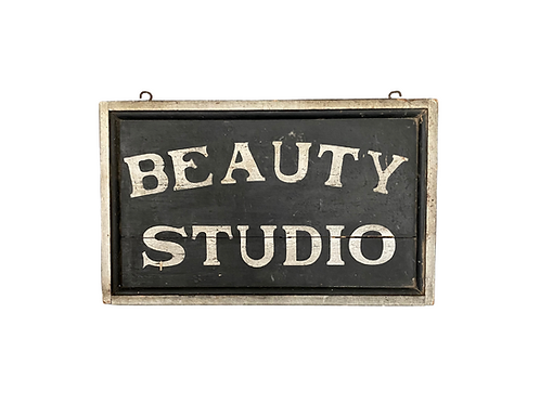 Double sided sign advertising beauty help
