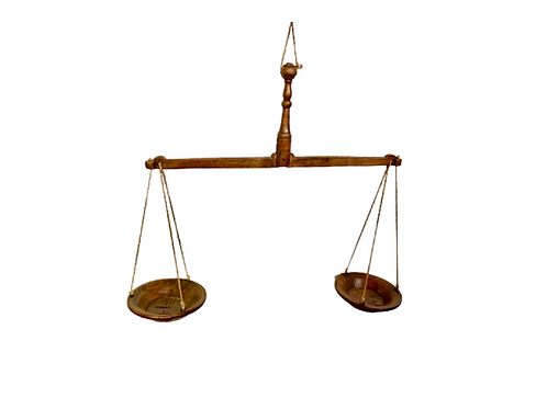 Hanging wood  butter scales 19th. century