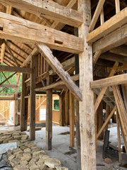 Timber frame addition beams