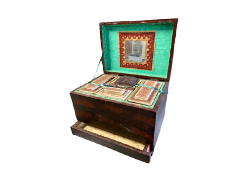 Paint decorated sewing box